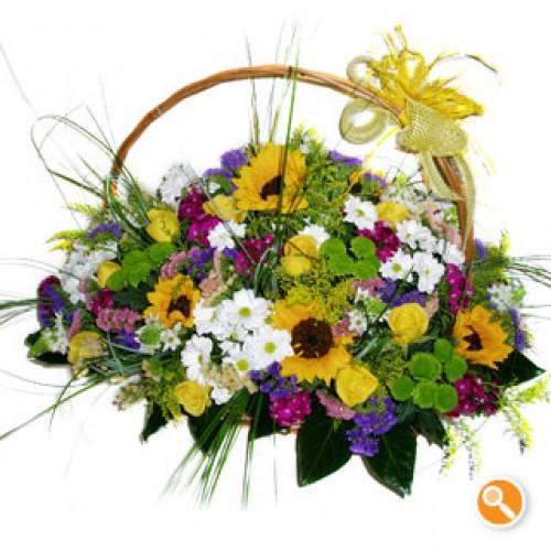Cestinho de flores campestres