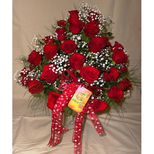 Arranjo Francesinha com Rosas Vermelhas