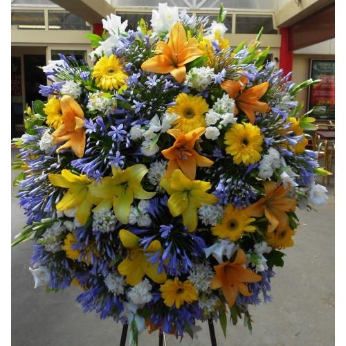 Coroa fúnebre Agapante