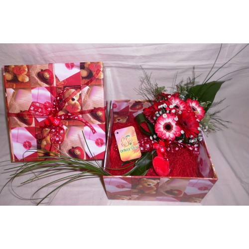 Gerberas em Caixa do Amor
