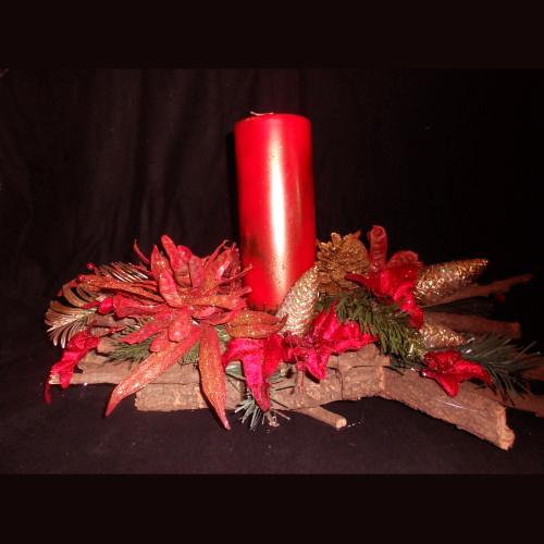 Centro Mesa Natal Vermelho