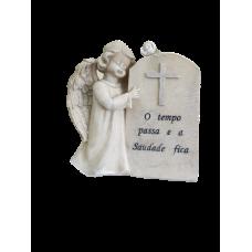 Placa de anjo marfinite decorativa